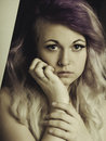 Teen portrait heaf and shoulder of Royalty Free Stock Photography