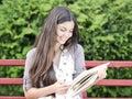 Teen Reading Royalty Free Stock Photo