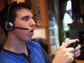 Teenage Boy Playing Video Game Royalty Free Stock Photo
