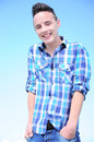 Teenage boy smiling Stock Photos