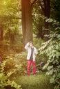 Teenage Boy Standing In Nature