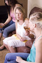 Teenage Drinking Caught by Mother Royalty Free Stock Images