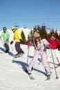 Teenage Family On Ski Holiday ...