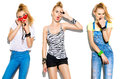 Teenage fashion stylish model girl Royalty Free Stock Photo
