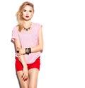 Teenage fashion stylish model girl Royalty Free Stock Photo