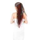 Teenage girl in african braids after shower Royalty Free Stock Images