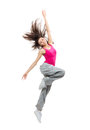 Teenage girl dancer dancing Royalty Free Stock Image