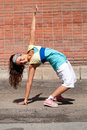 Teenage girl dancing hip-hop Royalty Free Stock Images