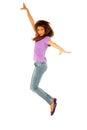 Teenage girl jumping