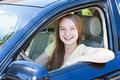 Teenage girl learning to drive Stock Image