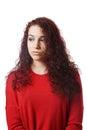 Teenage girl looking down Royalty Free Stock Photo