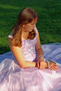 Teenage girl in party or prom dress Royalty Free Stock Image