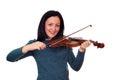 Teenage girl playing violin Royalty Free Stock Photo