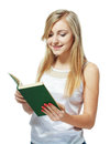 Teenage girl reading book Stock Photos