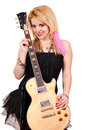 Teenage girl rock and roll star Royalty Free Stock Photo