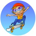 Teenage girl on a skateboard Stock Photo