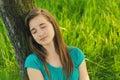 Teenage Girl Sleeping In The N...