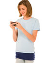 Teenage girl with smartphone Stock Photography