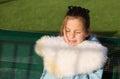 Teenage girl smiles in the sun Royalty Free Stock Photo