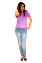 Teenage girl with thumb up Royalty Free Stock Photography