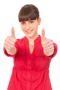 Teenage girl with thumbs up Royalty Free Stock Photos