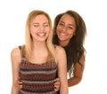 Teenage girls giggling Royalty Free Stock Photo