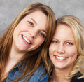 Teenage girls smiling Royalty Free Stock Photo