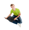 Teenage man student Stock Photo