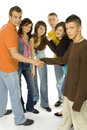 Teenage meeting Royalty Free Stock Image