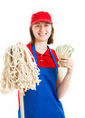 Teenage Worker Earning Money Royalty Free Stock Photos