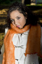 Teenage female model outside, nature Royalty Free Stock Photo
