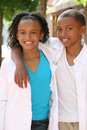 Teenager Boy and Girl - Friends Royalty Free Stock Images