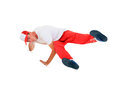 Teenager dancing breakdance in action break dance over white Royalty Free Stock Photo