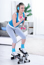 Teenager girl exercising Royalty Free Stock Photo