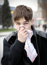 Teenager with Handkerchief Royalty Free Stock Photo