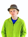 Teenager in the Hat Stock Photos