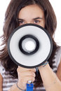 Teenager with megaphone Royalty Free Stock Photo