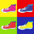 Teenager sneakers background Stock Photography