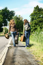 Teenager travellers Stock Images