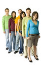 Teenagers' queue Royalty Free Stock Image