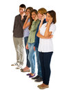 Teenagers with smartphone Stock Photo