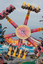 Teens Enjoy An Upside Down Carnival Ride Royalty Free Stock Photos