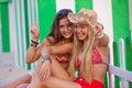 Teens love Ibiza Royalty Free Stock Photo