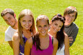 Teens relaxing in the park friends happy Royalty Free Stock Photo