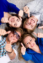 Teens With Thumbs Up Royalty Free Stock Photos