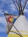 Teepee at national aboriginal celebration june edmonton alberta Stock Photography