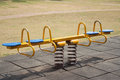Teeter in playground spring the park nan thailand Royalty Free Stock Photography