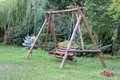 Teeter wooden in a garden Royalty Free Stock Photography