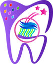 Teeth care a vector drawing represents design Royalty Free Stock Photos