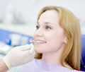 Teeth checkup at dentist s office Royalty Free Stock Photos